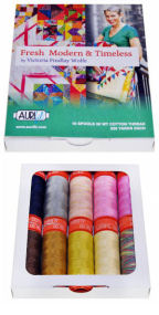 Aurifil Fresh Modern and Timeless Collection From Victoria Findlay Wolfe 10 Small Spools VF12FM10