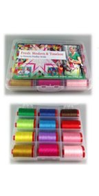 Aurifil Thread Fresh Modern and Timeless by Victoria Findlay 12wt Large Spools VF12FM12