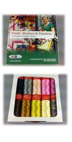 Aurifil Thread Fresh Modern and Timeless by Victoria Findlay 50wt Small Spools