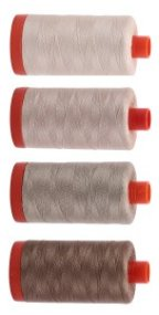 Aurifil Beiges Thread Collection 4 Large 50wt Cotton Spools From Red Rock Threads