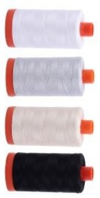 Aurifil Neutrals Thread Collection 4 Large 50wt Cotton From Red Rock Threads