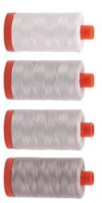 Aurifil New Neutrals Thread Set 4 Large 50wt Sp From Red Rock Threads