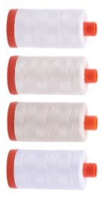 Aurifil Whites Thread Collection 4 Large 50wt Sp From Red Rock Threads