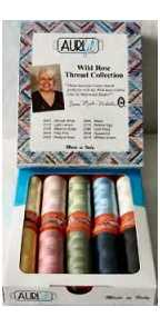Aurifil Wild Rose Thread Collection 10 Small 50wt Cotton Spools By Marti Michell MMWR